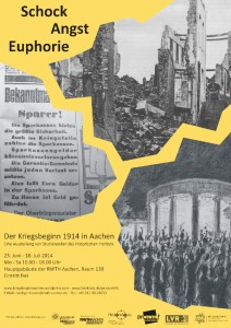 Ausstellungsplakat WK I Aachen